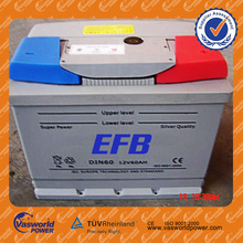 price 60ah dry charged battery 12v vehicle battery 24V Battery for truck