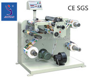 Hot sale label slitting rewinding machine for barcode label with CE