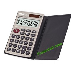 osalo os-928 calculator with presented case