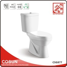 Floor Mounted Washdown Coloured Two Piece WC Toilet Bowl