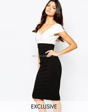 wholesale women fshion dress Vesperv Ruched Side And Cap Sleeve Midi Dress