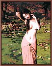 Yiwu fábrica, artesanal moderna de pintura al óleo de desnuda mujer por número