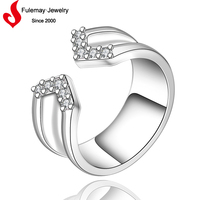 Men fashion jewelry movable ring model
