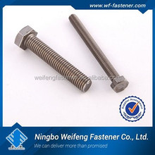 china high quality screw bolt ansi b18.2.1 full thread stainless steel m50 astm 307a hex bolt manufacturer & supplier & exporter