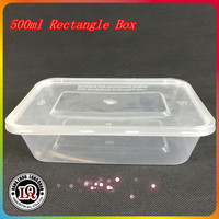 500ML Plastic PP Food Container Boxes