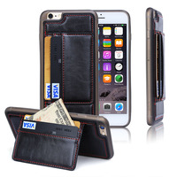 Newest arrival Leather + TPU Ultra Slim Protective Wallet Case for Apple iPhone 6s cover,For iphone 6s case