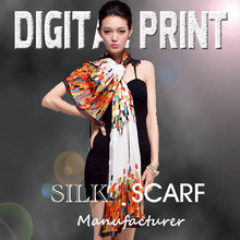 new design logo digital print custom design silk scarf-w0729-2