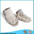 gots certificado de algodón orgánico tela interlock infantil zapatos de bebé