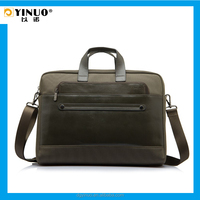 YINUO Fasion Genuine Leather Patchwork Laptop Messenger Bag for Macbook Pro 15.6-inch
