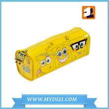 PVC yellow pencil bag