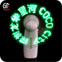 2015 Wholesale China Importers Special Custom Return Gifts for Birthday Party Flashing Led Message Fan