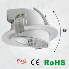 UP-DL31-6-25W white & chrome Round Recessed Scoop LED Downlight adjustable 6 inch 2.5 inch