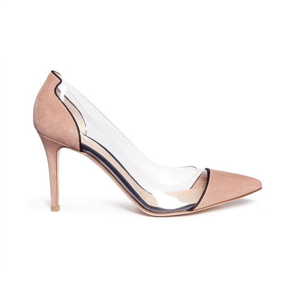 Dames de mode Pointues Orteils Partie Usure D'été Chaussures À Talons Hauts Femmes Pompes Talons Aiguilles de Gros Chaussures