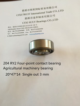 6204 ZZ Single out 3 mm Agricultural machinery bearing deep groove ball bearing manufacturer Four-point contact bearing