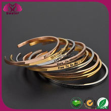 Best Selling Items Hight Quality Products Stainless Steel Engrave Cuff Bangle