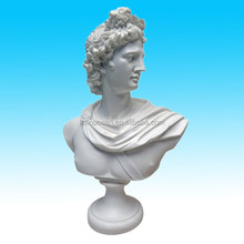 custom famous white color resin bust sculpture