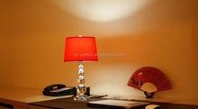 Hot red glass table lamps