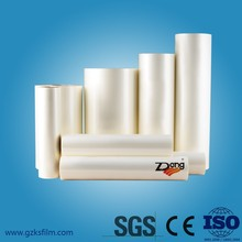 High quality clear white pet Thermal Laminaton Film with SGS certificate &CE 3inch