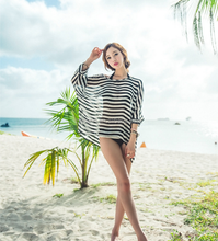 wholesale ladies tripes printing beach swimwear cover ups
