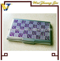 Promotional metal business card holder with diamond