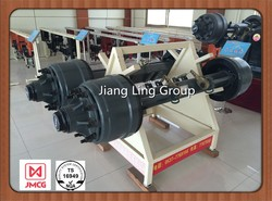 ROR tandem trailer axle and parts and trailer axle assembly