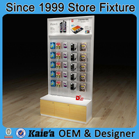 fashion display stand for mobile accessories/cell phone accessory display rack/accessories display rack