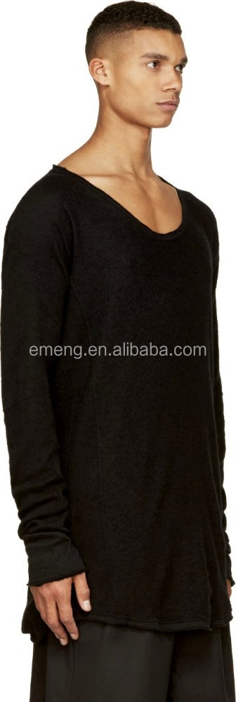 High quality wholesale plain blank long sleeve tall t for Slim and tall shirts