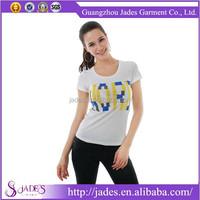 2015 High quality original design fashionable t shirt for lady