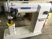 Good quality Siruba p717 white color reconditioned shoemaker used post bed sewing machine