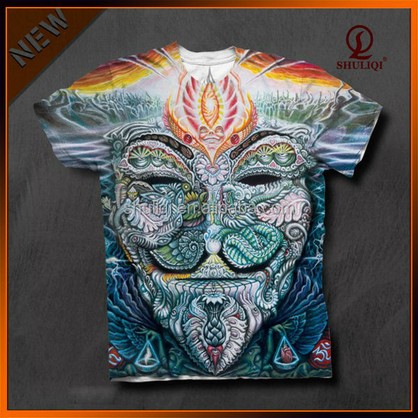 Custom fancy 3d digital printing t shirt with vivid Custom t shirt digital printing