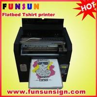 A3 flatbed hot sale digital tshirt printer / digital garment printing machine good quality cheap price