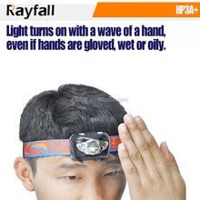 hands free gesture activation control led headlamp