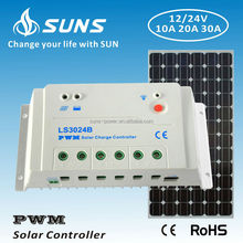 SUNS PWM 12V 24V Solar charger controller 20A 30A with RS485 terminal setting by PC