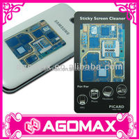 Adhesive sticky phone screen cellphone cleaner