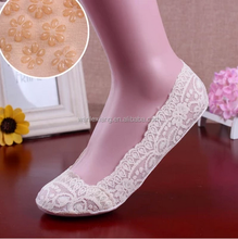 wholesale anti slip low cut socks,women lace no show boat socks,lady invisible boat socks