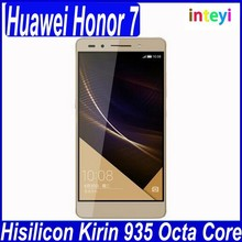 "Newest 5.2"" Huawei Honor 7 Mobile Phone Hisilicon Kirin 935 Octa Core 3GB RAM 16/64GB ROM Android 5.0 1920 x 1080 20 MP Camera"