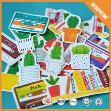 Modern key chain pvc adhesive label sticker paper