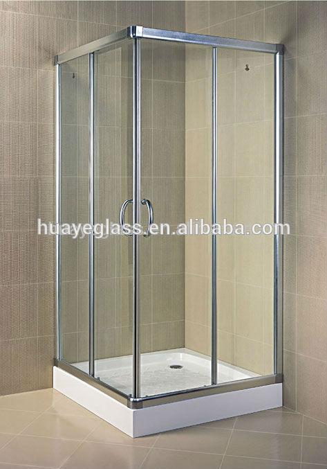 De vidrio templado para cuarto de ba o de la puerta de for Puertas de cristal para duchas