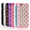 Bling Style Grid Pattern Diamond Studded Rhinestone TPU Case for iPhone 6