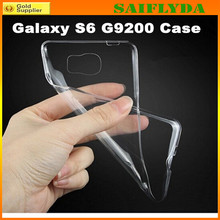 0.3mm Ultra Thin Clear TPU Case For Samsung Galaxy S6 edge