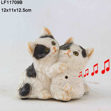 resin cat sculpture decor two cats resin models