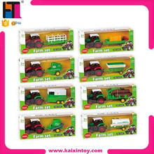 1076093 kids play set alloy farm toy farmer toys small farm tractor