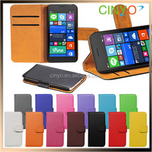 for nokia lumia 735 wallet leather case with cards slots and stand