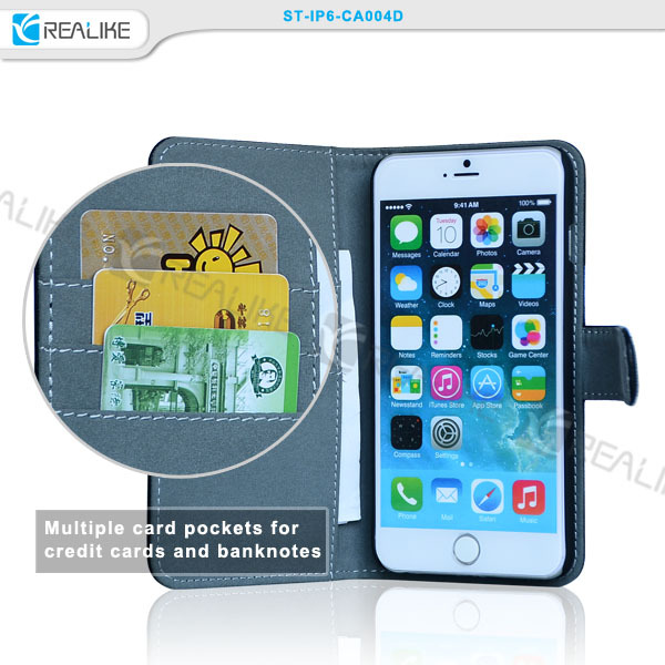 Factory case for iPhone 6 , wallet leather case for iphone 6 ,leather wallet case for iphone 6 !