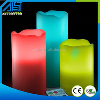 Hot Sale Color Change Flameless Remote Control Paraffin LED Candle