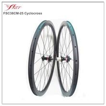 cyclocross disc rim wheels, 700c carbon wheels 38mm 25mm, 28/28H, 3K matte, Novatec hub Sapim spokes