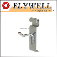 "Chrome 2"" Metal Display Peg Hooks for Gridwall"
