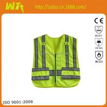 high visibility summer wholesale orange Safety Vest reflective hi vis worker dress meets EN471