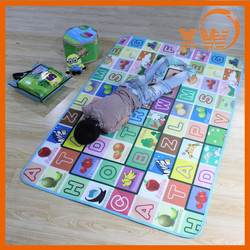 Baby product 4 letter fruit EPE foam cushion kid plastic play mat