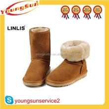 Chestnut Australia Sheepskin Stylish Ankle Boots For Women